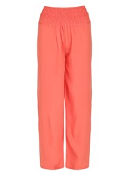 Izabel London Shirring Waistband Trousers Orange