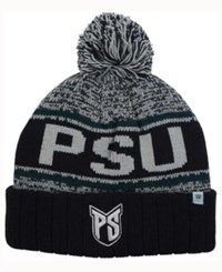 Top Of The World Portland State Vikings Acid Rain Pom Knit Hat Heather Gray Black Green