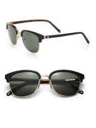 Montblanc 53Mm Square Sunglasses Black