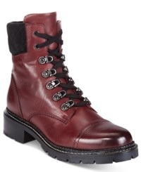 Frye Women's Samantha Lace Up Booties Women's Shoes Burgundy