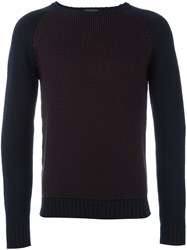 Zanone Raglan Sleeve Jumper Blue