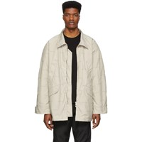 Fear Of God Off White Logo Field Jacket