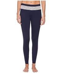 Ivanka Trump Active Pull On Color Block Pants Navy Blush Women's Casual Pants Orange