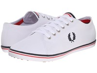 Fred Perry Kingston Twill Navy White Bright Red Men's Lace Up Casual Shoes