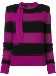 Marc Jacobs Striped Knit Jumper Pink And Purple