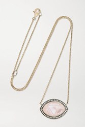 Noor Fares Ajna Guava 18 Karat Gray Gold And Enamel Multi Stone Necklace One Size