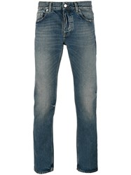Harmony Paris Faded Straight Jeans Blue