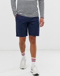Only And Sons Printed Chino Shorts In Navy