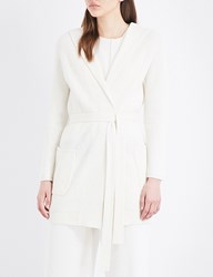 Max Mara Tecla Hooded Wool And Cashmere Blend Cardigan Ivory