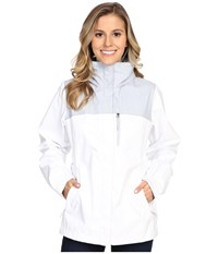 Columbia Pouration Jacket White Cirrus Grey Women's Coat