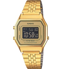 Casio Unisex Gold Toned Gold Dial Digital Watch