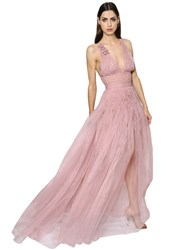 Ermanno Scervino Embellished Technical Organza Gown
