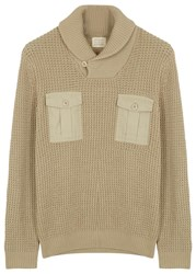 Dockers Fatigue Chunky Knit Cotton Jumper Stone