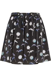 Kenzo Printed Silk Mini Skirt Black