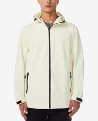32 Degrees Storm Tech Full Zip Hooded Rain Jacket Washed Yellow