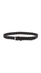 Madewell Mid Braided Belt True Black