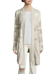 Polo Ralph Lauren Silk Blend Open Front Cardigan Cream Multi