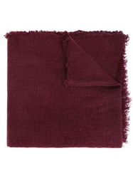 Ann Demeulemeester Frayed Scarf Red