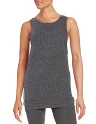 Steve Madden Lace Up Sleeveless Tunic Black Tea
