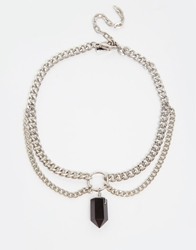 Regal Rose Apogee Chain Choker Necklace Silver