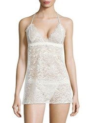 Hanky Panky Wink Lace Babydoll And G String Marshmallow