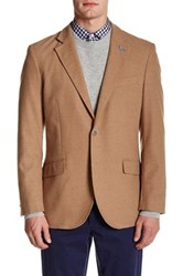 Tailorbyrd Solid Notch Collar Sportcoat Beige