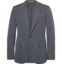 Berluti Grey Slim Fit Cotton Blazer Gray