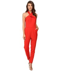 Adelyn Rae Halter Jumpsuit Red Women's Jumpsuit And Rompers One Piece