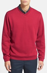 Men's Cutter And Buck 'Decatur' V Neck Sweater