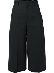 Red Valentino Wide Leg Cropped Trousers Black