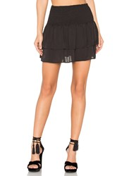 Eight Sixty Shirred Mini Skirt Black