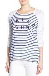 Women's Sundry 'Hello Sun' Raglan Long Sleeve Tee