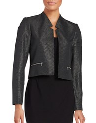 Calvin Klein Textured Metallic Jacket Black