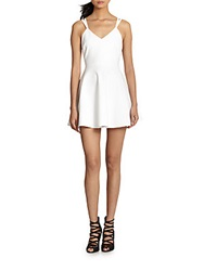 Elizabeth And James Lockley Fit And Flare Criss Cross Back Dress White
