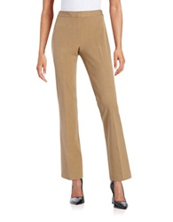 Vince Camuto Petite Flared Stretch Dress Pants Tan Heather