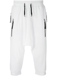 Unconditional Drop Crotch Track Shorts White