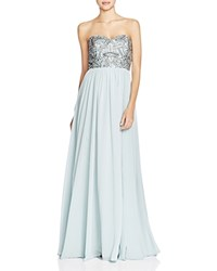 Decode 1.8 Embellished Bodice Gown Dusty Blue