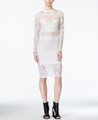 Material Girl Juniors' Lace Illusion Bodycon Dress Only At Macy's