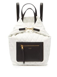 Givenchy Duo Convertible Quilted Backpack White