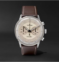 Junghans Meister Driver Chronoscope Stainless Steel And Leather Watch Brown