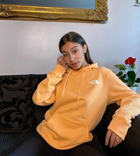 The North Face Back Graphic Hoodie In Orange Exclusive At Asos