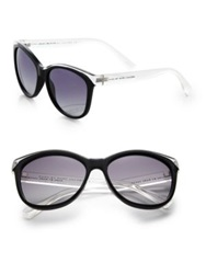 Marc By Marc Jacobs 55Mm Butterfly Sunglasses Clear Black