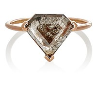 Grace Lee Women's Triangular Rustic Diamond Ring No Color