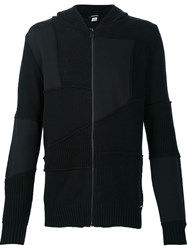 Diesel Paneled Zipped Cardigan Black