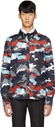 Moncler Gamme Bleu Multicolor Quilted Camo Jacket