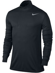 Nike Men's Dri Fit Knit Half Zip Jumper Black