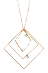 Stephan And Co Square Geo Pendant Necklace Black