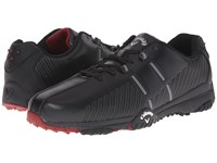 Callaway Chev Comfort Black Black Crimson Men's Golf Shoes