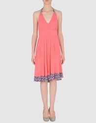 Blend She Short Dresses Coral