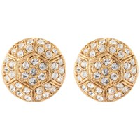 Susan Caplan Vintage 22Ct Gold Plated Deco Style Swarovski Crystal Stud Earrings Gold